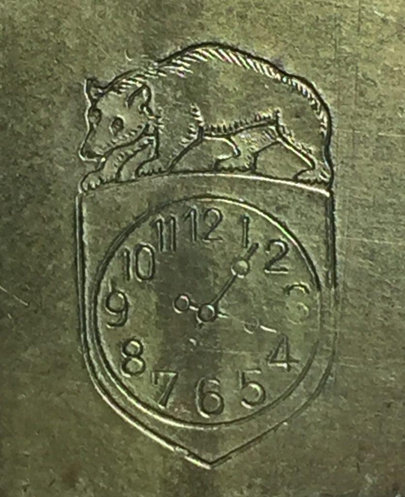 El Lobo y el Reloj de la marca F. & C. Hassig, Angenstein, Suiza